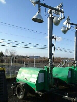 2008 Terex 6kw Trailer Mounted Light Tower Model Al4000
