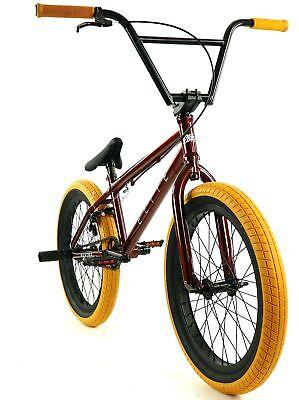 2 BMX Fortune Kontack 20x1.95 Fast Rolling Freestyle Street Black Orange Wall
