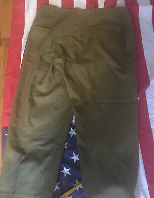 Ww2 Us Army Early Pattern Mustard Em Pants Big Size 40 Has Some Holes