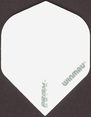 Winmau Prism Delta  White Chevron  Dart Flights  3 Per Set