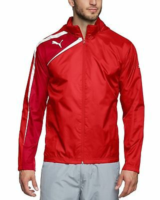 PUMA Spirit Youth Rain Jacket Boys Red Sports Track Top CLEARANCE SALE (Boys Outerwear Clearance)