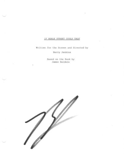 * BARRY JENKINS * signed movie script * IF BEALE STREET COULD TALK * DIRECTOR 2