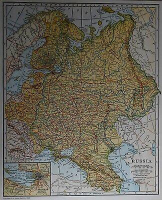 L@@K Vintage 1926 Atlas Map Post World War WWI Russia The Balkan States & Greece