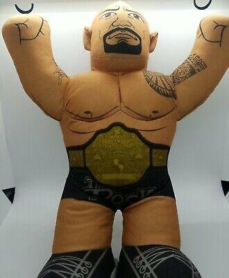 "The Rock WWE 16"" Brawlin Buddies Mattel Plush Wrestling Toy 2012 Dwayne Johnson"