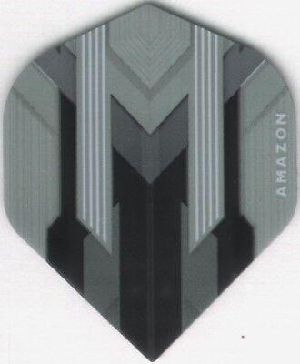 AMAZON Silver/Black Dart Flights: 3 per set