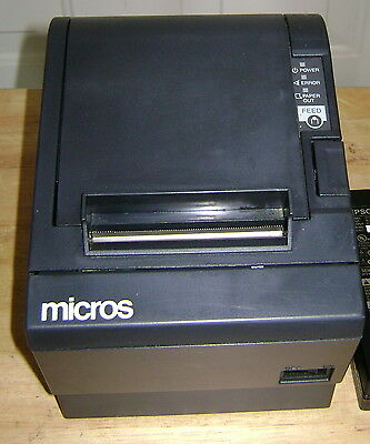 Micros Epson Tm-t88iii Pos Thermal Receipt Printer - Idn Port - No Ac Adapter
