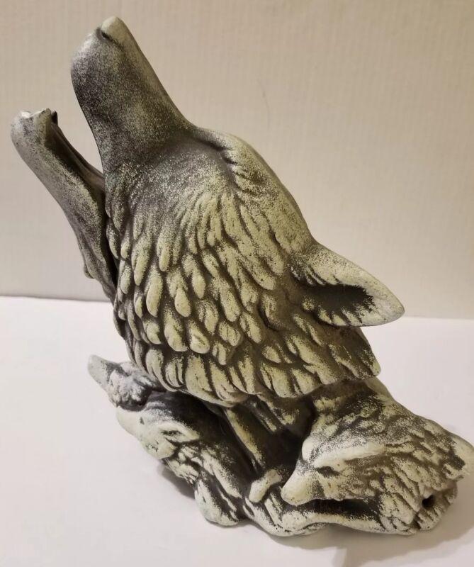 Plaster Wolf Statue Figurine