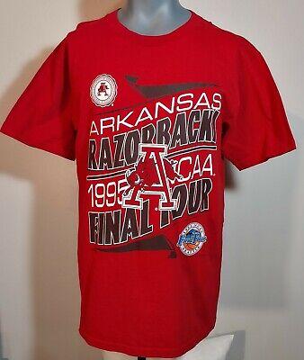 Vintage Arkansas Razorbacks 1995 NCAA Basketball Champs T Shirt Size L. Red.Hogs Arkansas Razorbacks Ncaa Basketball