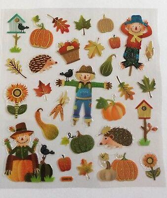 Fall / Halloween Scrabbok Stickers.Super Cute Subtle Glitter Accents 29 - Super Cute Halloween Crafts