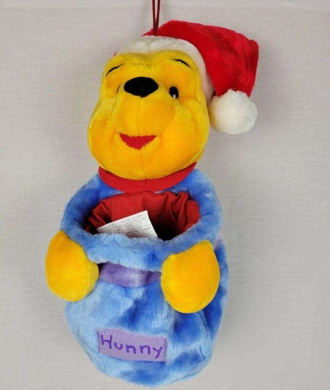 Disney Winnie the Pooh Hunny Jar Plush Santa Christmas Stocking.