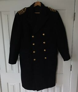 VINTAGE CANADIAN NAVY WOOL GREATCOAT