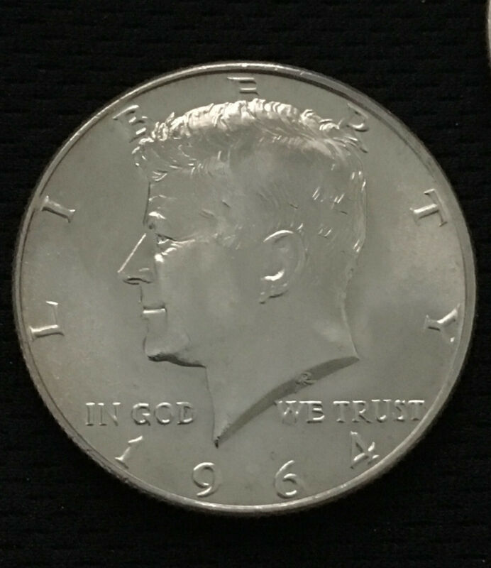 "1964 D / P KENNEDY HALF DOLLARS 90% SILVER US Mint, ""Uncirculated"" for 50yrs"