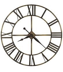 HOWARD MILLER WINGATE OVERSIZED GALLERY WROUGHT IRON WALL CLOCK  49 Inches !!