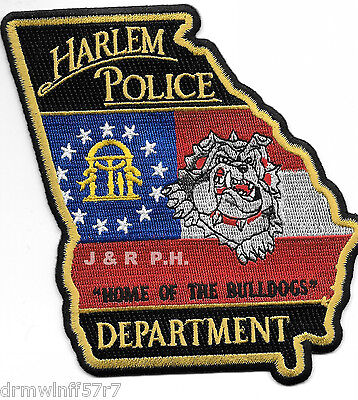 """Harlem, GA """"Home-Bulldogs"""" (4"""" x 4.75"""" size) shoulder police patch (fire)"""