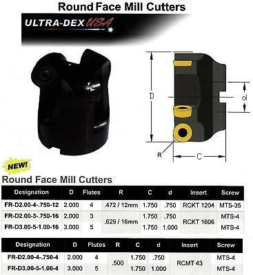 Round Indexable Face Mill Cutters New 245.00 Each