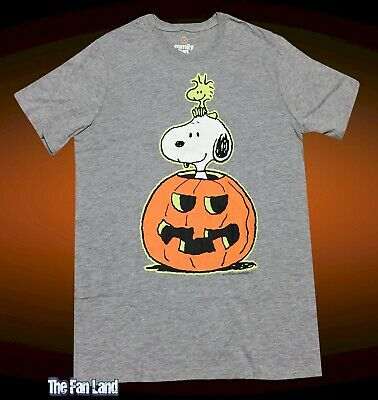 Glow In The Dark Halloween Shirts (New Peanuts Snoopy Pumpkin Glow in the dark Halloween Men's T-Shirt)