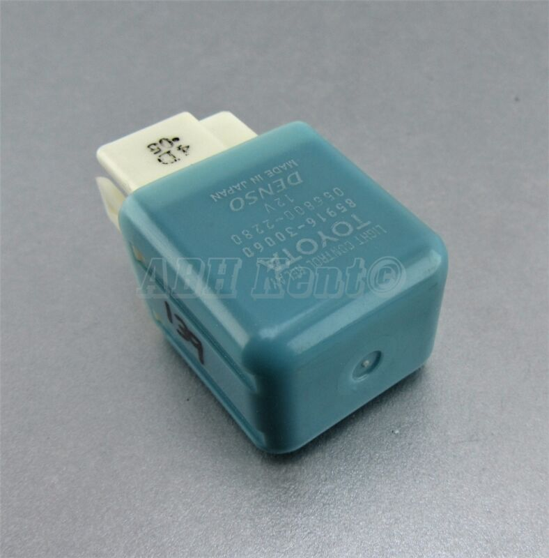 139-Toyota Lexus 4-Pin Light Control Blue Relay 85916-30060 Denso 056800-2280