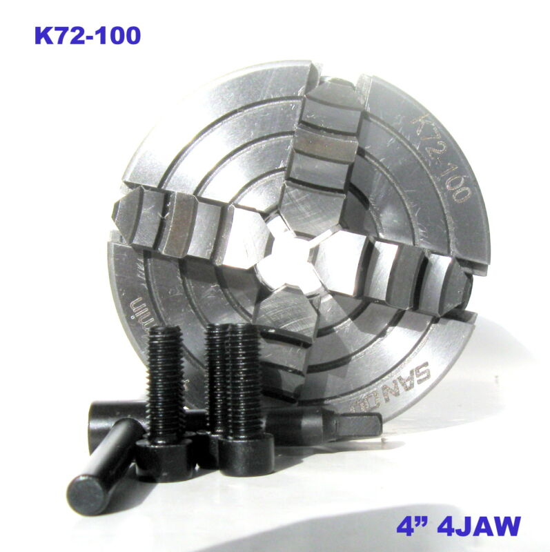 "1 pc Lathe Chuck 4"" 4Jaw Independent & Reversible Jaw K72-100 sct-888"