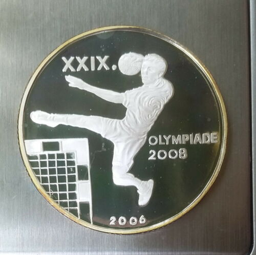 5 Won 2006 Korea - Olympic Games 2008 HANDBALL Sports Silver 999 Proof Scarce !!