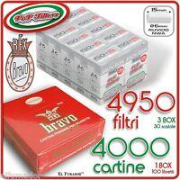 4950 Filtri Pop Filters Slim 6mm Ruvidi No Rizla + 4000 Cartine Bravo Rex Corte -  - ebay.it