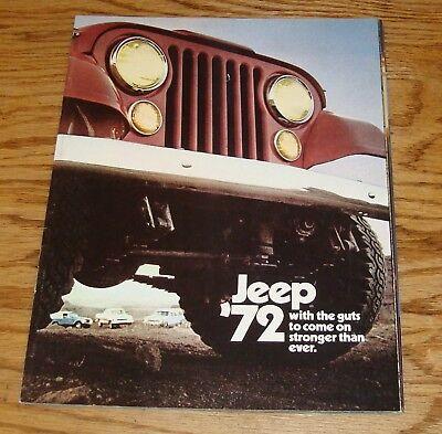 Original 1972 Jeep Full Line Sales Brochure 72 Commando Wagoneer Truck