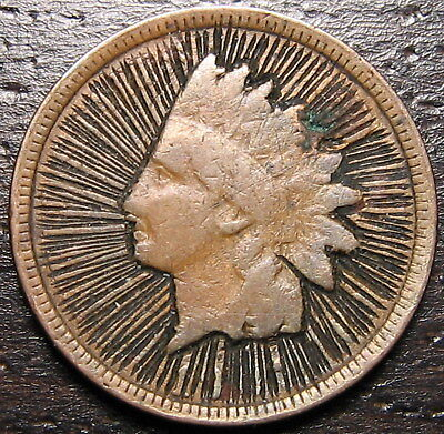 - UNIQUE Indian Head Cent Token  --  MAKE US AN OFFER!  #R4890