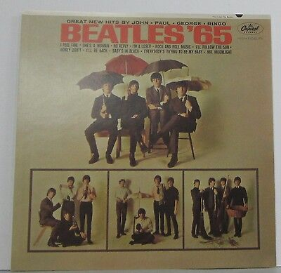 """The Beatles - '65  * Promo 2 Sided Poster * 12"""" x 12"""" rare limited"""