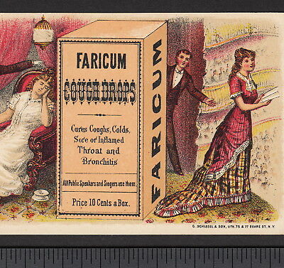 Victorian Diva Theater Singer Faricum Throat Cure Before After Advertising - Diva Singer
