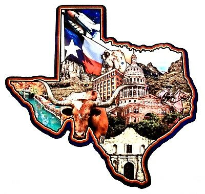 Texas Collage (Texas State Collage Fridge Magnet)