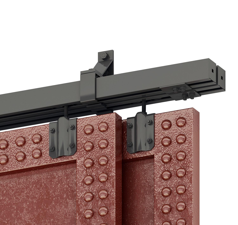 DIYHD Black Box Track Heavy Duty Bypass Exterior Sliding Bar