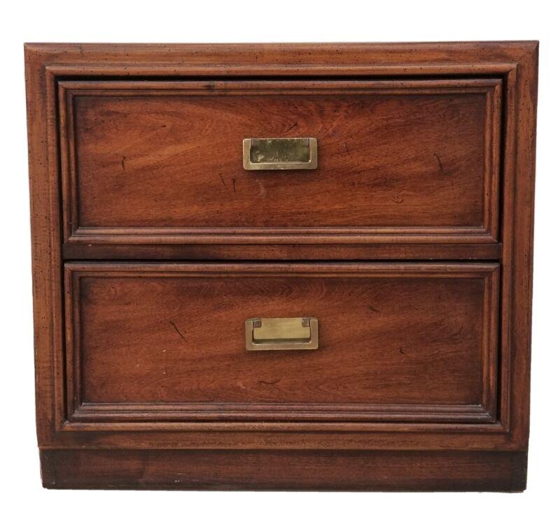 "Vintage THOMASVILLE FURNITURE 22¼"" Two Drawer Nightstand 42611-810"