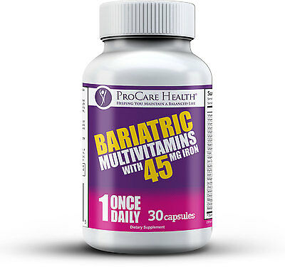 30ct Capsule - PROCARE HEALTH BARIATRIC MULTIVITAMIN 30 CT 45MG IRON CAPSULE BYPASS - SLEEVE