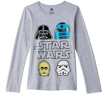 NWT Star Wars Character Girls Long Sleeve T-Shirt Sizes Medium, Large - Star Wars Girl Characters