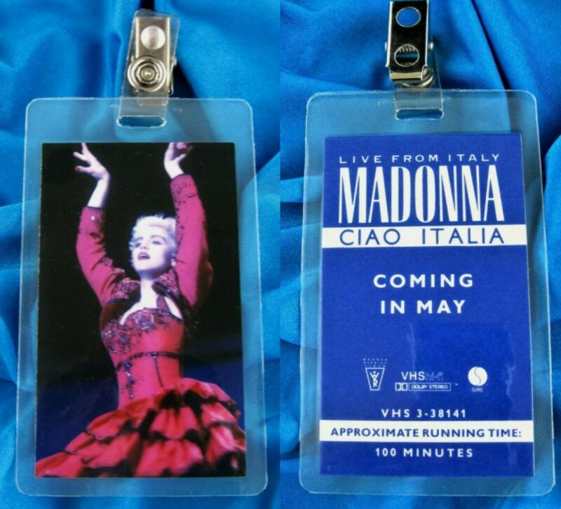 MADONNA IN HOUSE PROMO LAMINATED PASS FOR WHO