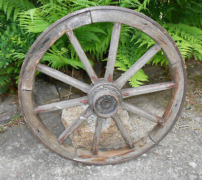 Old Cartwheel Spoked Wheel Ø 51 CM Country House Vintage Shabby! (6