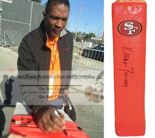 Keena Turner S.F. 49ers Signed TD Football Pylon Exact Proof Photo Autograph COA