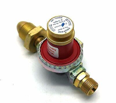Continental 0 - 4 BAR ADJUSTABLE PROPANE GAS REGULATOR 8kg/h with 3/8 LHT OUTLET