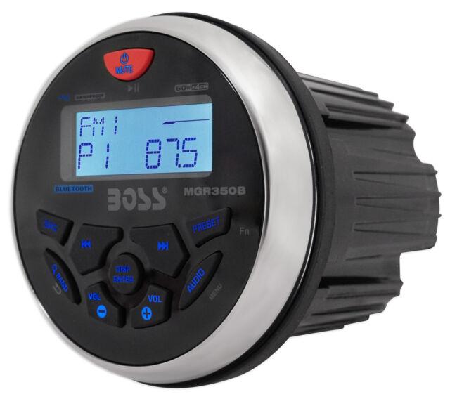 Boss Audio Systems MGR350B Bluetooth Enabled In Dash, Marine Gauge, AM/FM Receiver