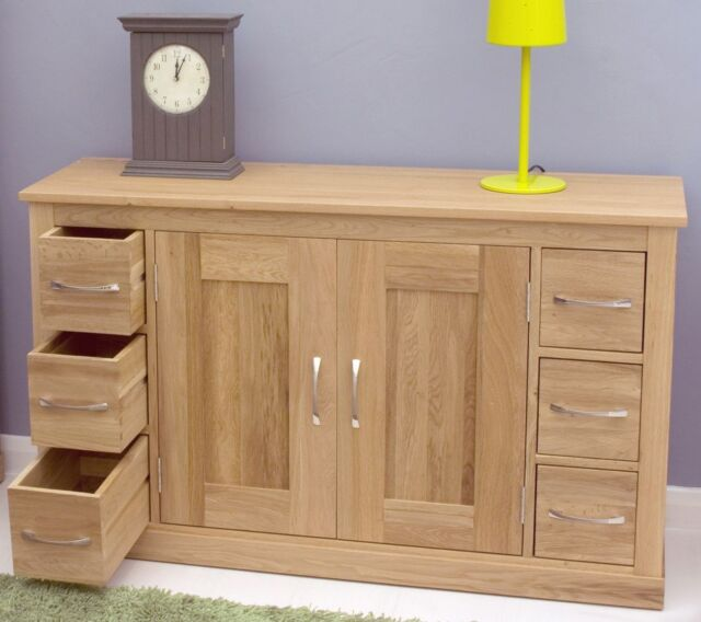 Mobel solid contemporary oak living dining room furniture sideboard