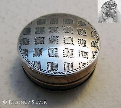 Rare George III 1810 Antique Solid Silver English Georgian PATCH Box. Snuff/Pill