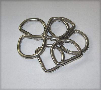 "25 pcs. Nickel Plated 1 1/4"" D RINGS Welded handbag Dee purse Hardware leather"