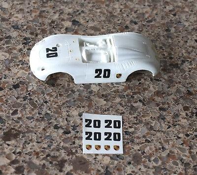 1//32 Strombecker Eldon PORSCHE slot car decal sheets #15 #20 #22 #40 #60 #93