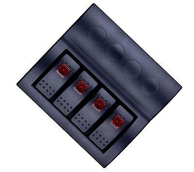 Af- 4 Gang Car Boat 12v 24v Rocker Switch Panel With Led Indicators Auto Fuses