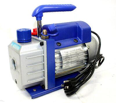 New 1 Stage Electric Refrigerant 2.5cfm Vacuum Pump Hvac 14 Hp