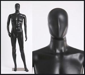 MC-1B EurotonDisplay abstrakte männlich Schaufensterpuppe schwarz matt mannequin