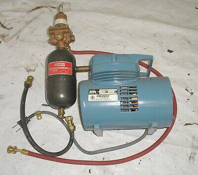 Thomas Air Pump 907aa20-2 W Regulator Moisture Trap