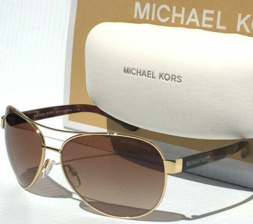 MICHAEL KORS Sunglasses MK5015 104413 Gold Tortoise Frame W/ Brown Gradient Lens