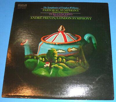 HEAR  STEREO LP RCA LSC-3281 VAUGHAN WILLIAMS TUBA CONCERTO PASTORAL SYM PREVIN