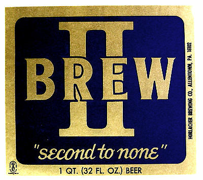 Horlacher Brewing BREW II beer label PA 32oz
