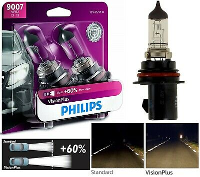 OpenBox Philips VIsion Plus 60% 9007 HB5 65/55W Two Bulbs Head Light Replacement